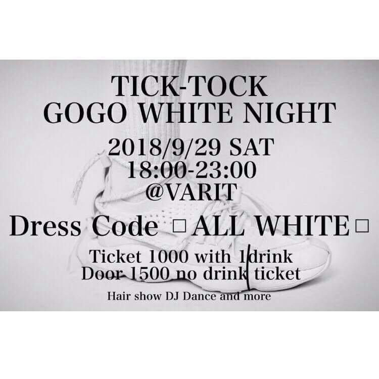 TICK-TOCK GOGO WHITE NIGHT