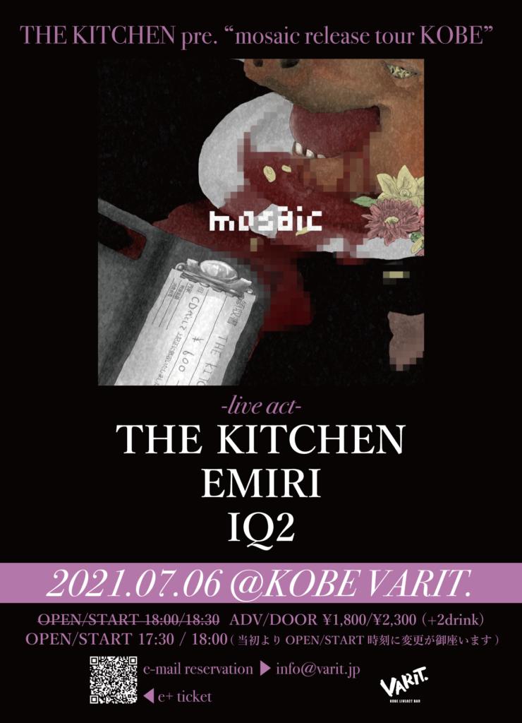 """THE KITCHEN pre.""""mosaic release tour KOBE"""""""